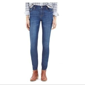Madewell High Riser Skinny Jeans, medium wash, 26